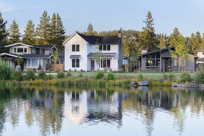 Custom home in Bend, Oregon Northwest Crossing built by Structure Development NW an award winning homebuilder in Central Oregon. Farmhouse Style home with stunning interior design.